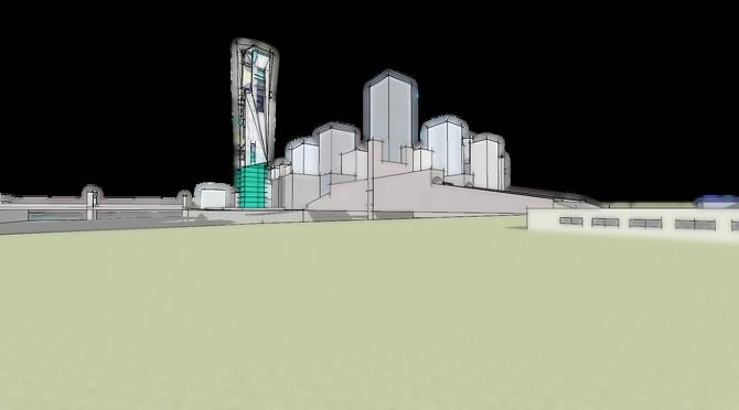 Miami seafront tower philippe castro castejon architecte for Castro architecte